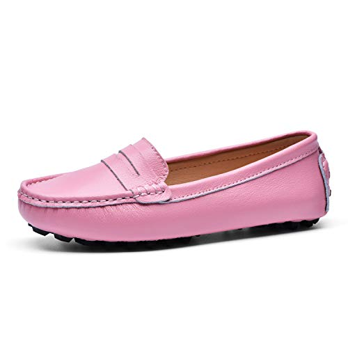 BEAUSEEN Womens Penny Loafers Leather Driving Moccasins Comfort Boat Shoes 0 0
