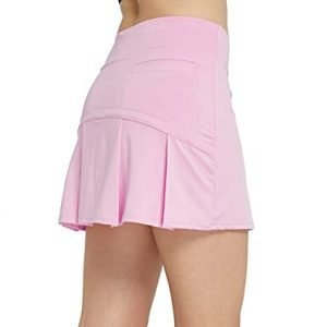 Cityoung Womens Athletic Pleated Golf Skirt with Shorts Pockets Running Tennis Workout Skorts 0