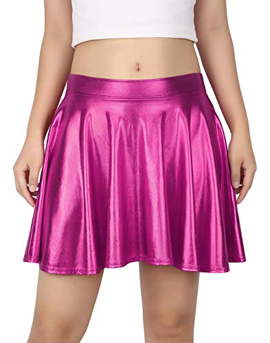 HDE Womens Casual Fashion Flared Pleated A Line Circle Skater Skirt 0 0