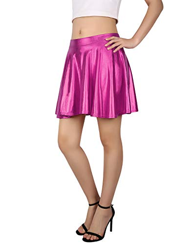 HDE Womens Casual Fashion Flared Pleated A Line Circle Skater Skirt 0 1