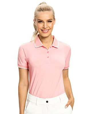 Hiverlay Polo Shirts for Women Golf Shirts Dry Fit UPF 50 Lightweight Moisture Wicking Collared Tennis Shirts Ladies Tops 0