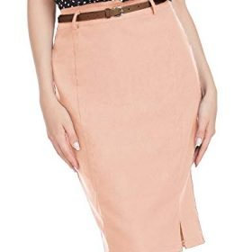 Kate Kasin Womens Bodycon Pencil Skirt with Belt Solid Color Hip Wrapped 0 2