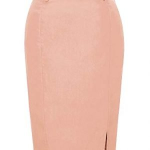 Kate Kasin Womens Bodycon Pencil Skirt with Belt Solid Color Hip Wrapped 0