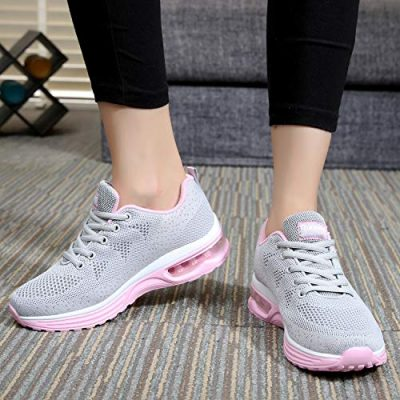 MAFEKE Women Air Athletic Running Shoes Fashion Tennis Breathable Lightweight Walking Sneakers 0 4