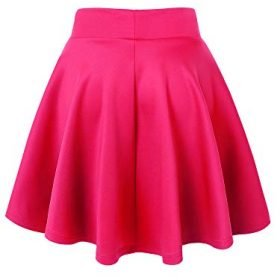 Made By Johnny Womens Basic Versatile Stretchy Flared Casual Mini Skater Skirt XS 3XL Plus Size Made in USA 0 0
