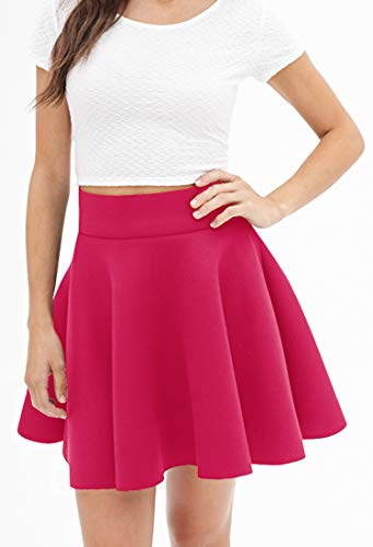 Made By Johnny Womens Basic Versatile Stretchy Flared Casual Mini Skater Skirt XS 3XL Plus Size Made in USA 0 2