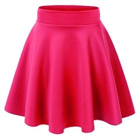 Made By Johnny Womens Basic Versatile Stretchy Flared Casual Mini Skater Skirt XS 3XL Plus Size Made in USA 0
