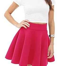 Made By Johnny Womens Basic Versatile Stretchy Flared Casual Mini Skater Skirt XS 3XL Plus Size Made in USA 0 3