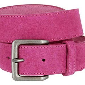Square Buckle Casual Jean Suede Leather Belt 1 12 Wide 0
