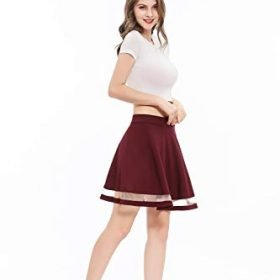 Wedtrend Womens Basic Versatile Stretchy A line Flared Casual Mini Skater Skirt 0 1