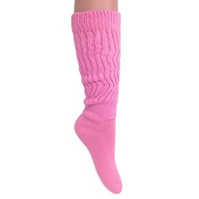 Womens Extra Long Heavy Slouch Cotton Socks Size 9 to 11 0 1