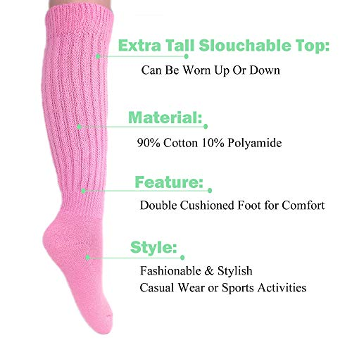 Womens Extra Long Heavy Slouch Cotton Socks Size 9 to 11 0 3