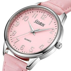Womens Genuine Leather Strap Wrist Watch with Japanese QuartzStainless Steel Case50M Water Resistant 0 0
