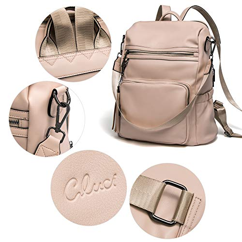 CLUCI Backpack Purse for Women Fashion Leather Designer Travel Large Ladies Shoulder Bags with Tassel 0 3