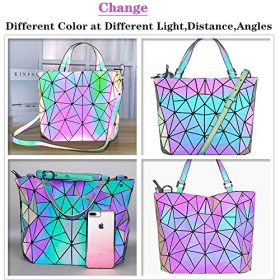 Hotone Luminous Purses for Women Holographic Backpacks and Crossbody Bag Fanny Pack Tote bag Wallet Collection 0 1