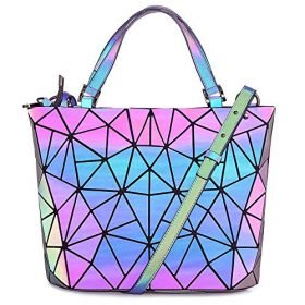 Hotone Luminous Purses for Women Holographic Backpacks and Crossbody Bag Fanny Pack Tote bag Wallet Collection 0