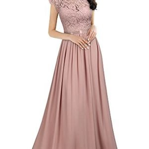 Miusol Womens Formal Floral Lace Evening Party Maxi Dress 0