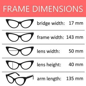 OWL Cateye Sunglasses for Women Classic Vintage High Pointed Winged Retro Design 0 0