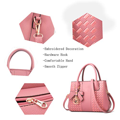 Purses and Handbags for Women Fashion Ladies PU Leather Top Handle Satchel Shoulder Tote Bags 0 5