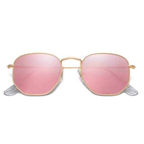SOJOS Small Square Polarized Sunglasses for Men and Women Polygon Mirrored Lens SJ1072 0